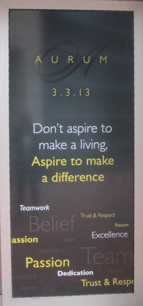 Aspire to make a difference
