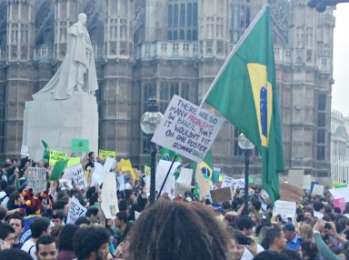 Brazilian protest in London